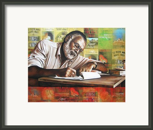 Hemingway Framed Print By Ryan Jones