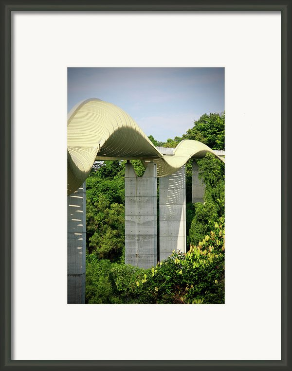 Henderson Waves Bridge Framed Print By Weesen Photos