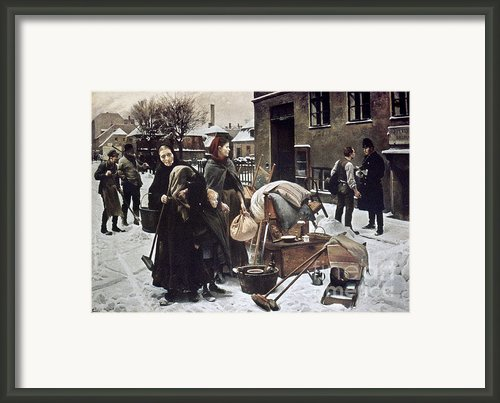 Henningsen  Evicted 1890 Framed Print By Granger