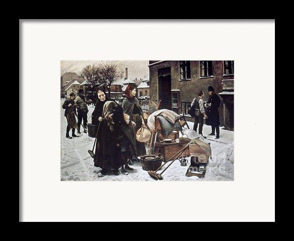 Henningsen  Evicted 1890 Framed Print By Granger