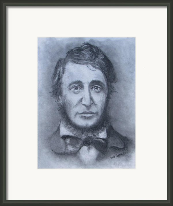 Henry David Thoreau Framed Print By Jack Skinner