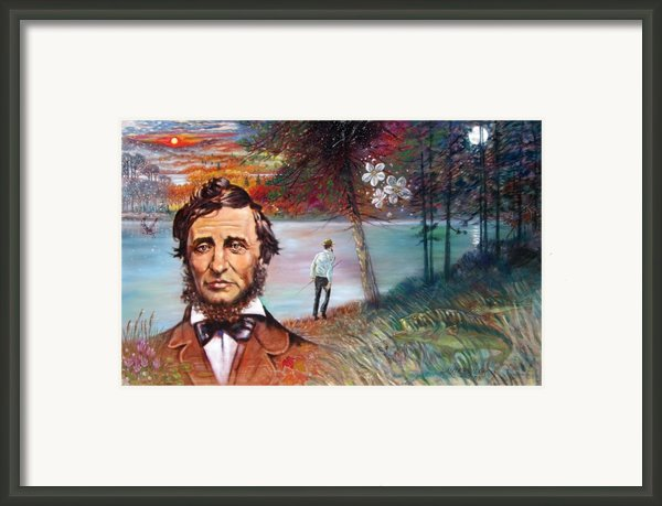 Henry David Thoreau Framed Print By John Lautermilch