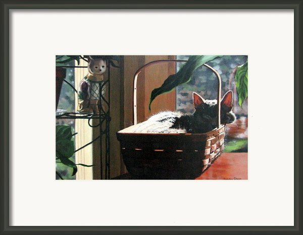Her Basket Framed Print By Sandra Chase