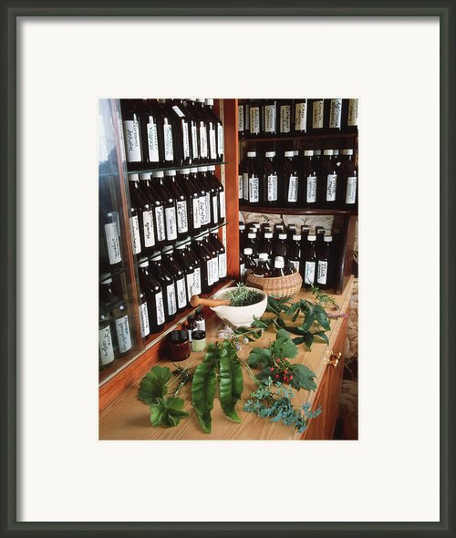 Herbal Pharmacy Framed Print By Tek Image