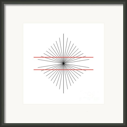 Hering Illusion Framed Print By Spl And Photo Researchers