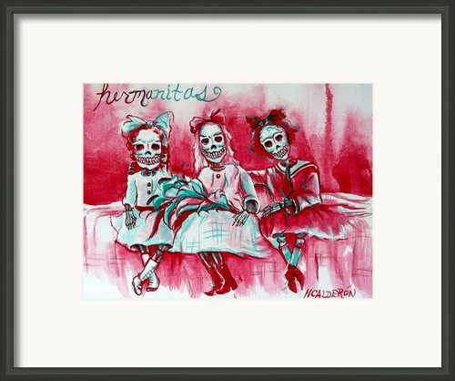 Hermanitas Framed Print By Heather Calderon
