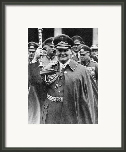 Hermann Goering 1893-1946, Holding Framed Print By Everett