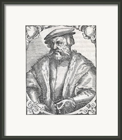 Hernan Cortes, Spanish Conquistador Framed Print By Middle Temple Library