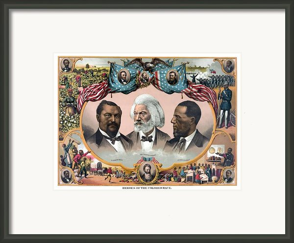Heroes Of The Colored Race  Framed Print By War Is Hell Store