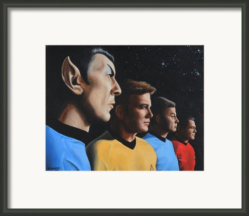 Heroes Of The Final Frontier Framed Print By Kim Lockman
