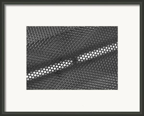 Hexagon Lights Framed Print By Anna Villarreal Garbis