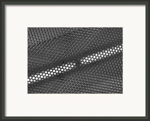 Hexagon Lights Framed Print By Anna Villarreal Garbis