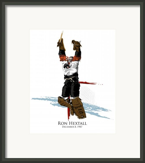 Hextall Scores Framed Print By David E Wilkinson
