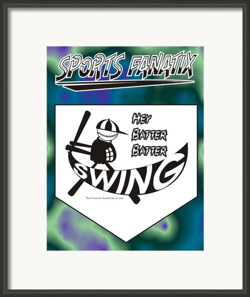 Hey Batter Batter Swing Framed Print By Maria Watt
