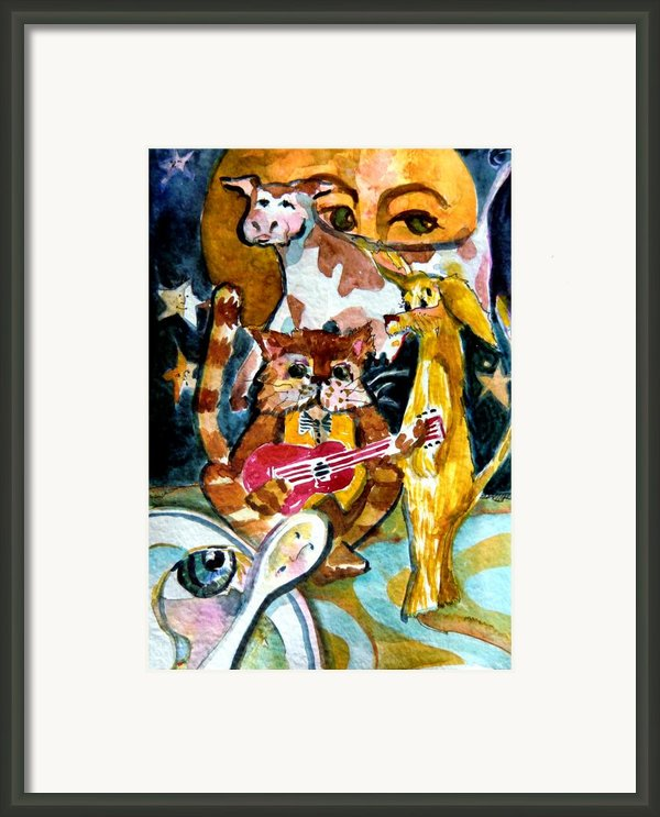 Hey Diddle Diddle Framed Print By Mindy Newman