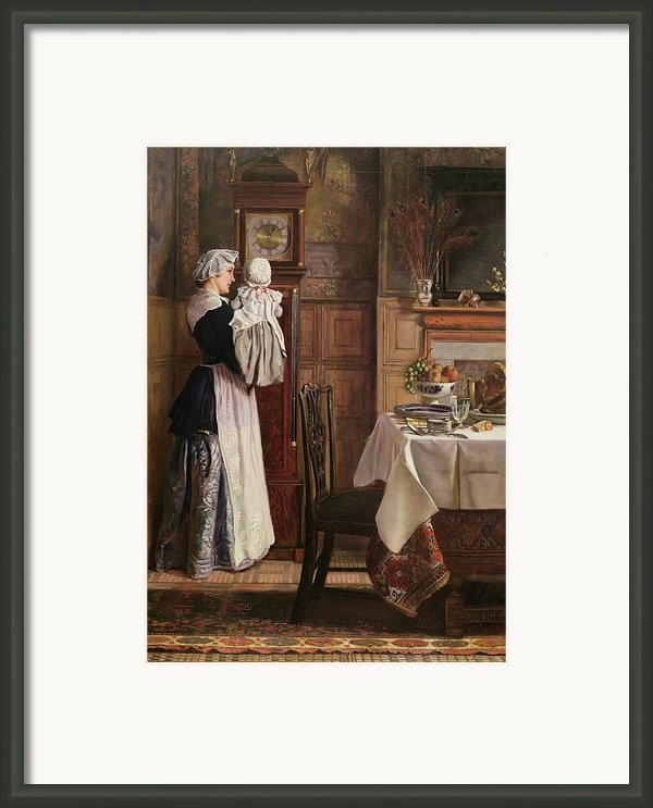 Hickory Dickory Dock  Framed Print By Edith Hopkins