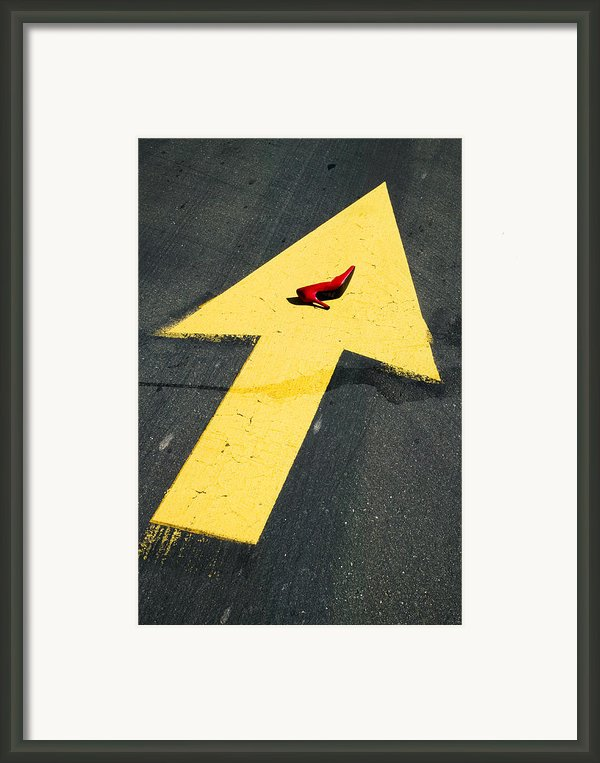High Heel And Arrow Framed Print By Garry Gay