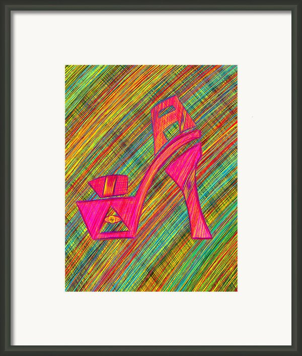 High Heels Power Framed Print By Kenal Louis