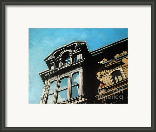 High In The Sky - Houses Framed Print By Linda Apple
