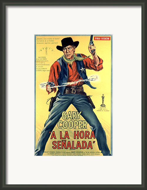 High Noon, Gary Cooper, 1952 Framed Print By Everett