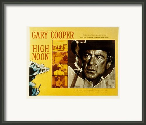 High Noon, Sheb Wooley, Grace Kelly Framed Print By Everett
