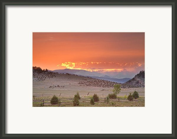 High Park Wildfire At Sunset Framed Print By James Bo  Insogna