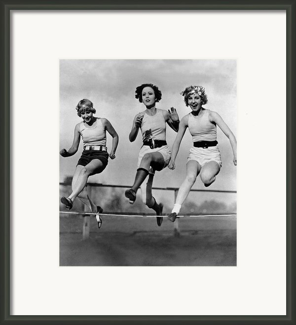 High Stepping Framed Print By Topical Press Agency