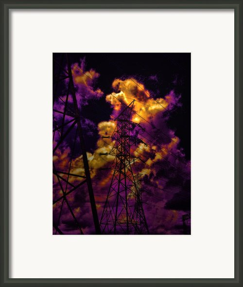 High Voltage Framed Print By Marcie Adams Eastmans Studio Photography