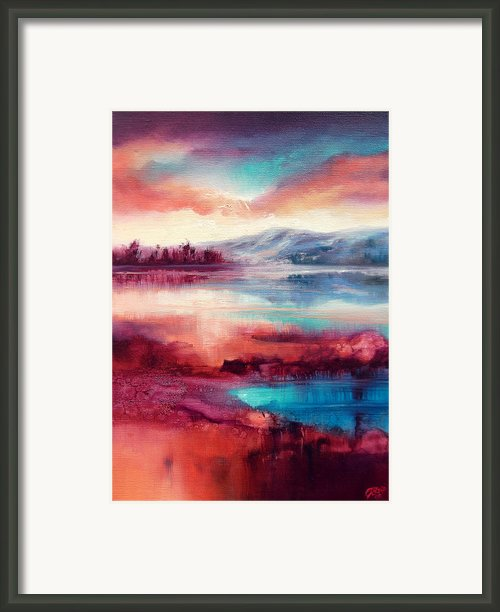 Highland Sunrise Framed Print By C J Elsip