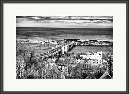 Highlands Bridge Framed Print By John Rizzuto