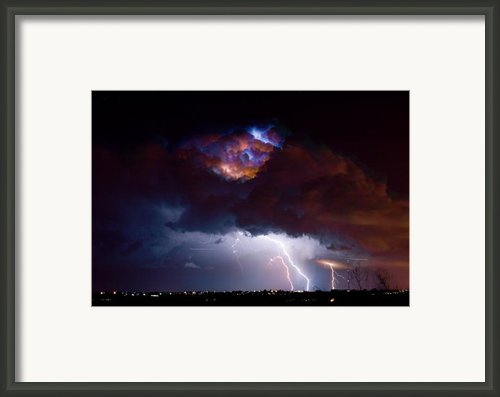 Highway 52 Thunderhead Lightning Cell Framed Print By James Bo Insogna