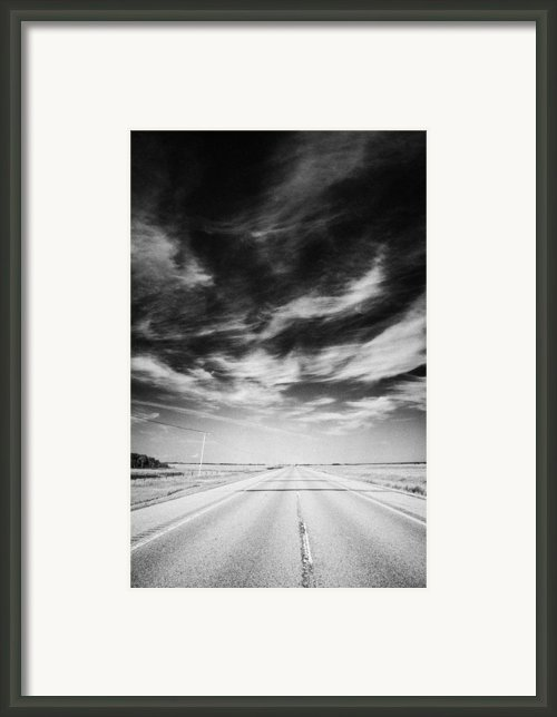 Highway Through Land Of The Living Skies Saskatchewan Canada Framed Print By Joe Fox