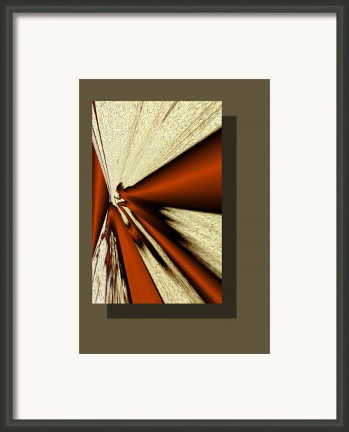 Hikers Shadow Framed Print By Brian Skyum