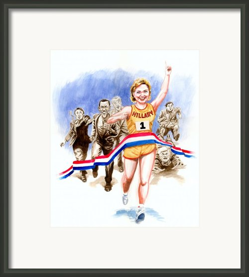 Hillary And The Race Framed Print By Ken Meyer Jr