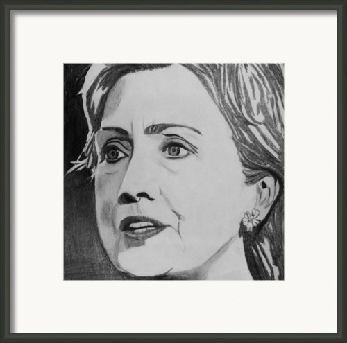 Hillary Clinton Framed Print By Kenneth Regan