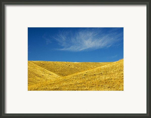 Hills And Clouds, Cypress Hills Framed Print By Mike Grandmailson