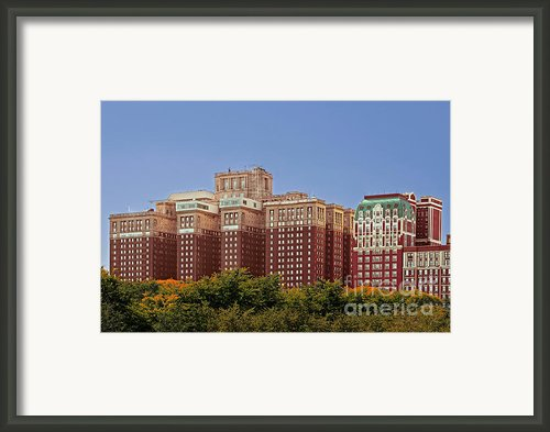 Hilton Chicago And Blackstone Hotel Framed Print By Christine Till