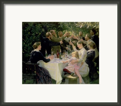 Hip Hip Hurrah Framed Print By Peder Severin Kroyer