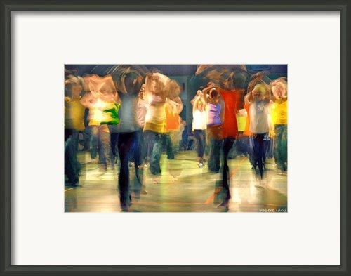 Hip Hop Dance Night Framed Print By Robert Lacy