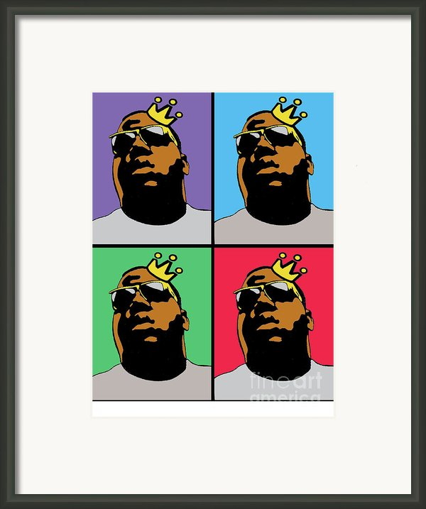 Hip Hop Icons The Notorious Big Framed Print By Stanley Slaughter Jr