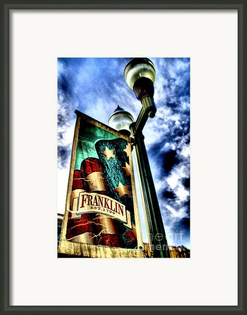 Historic Downtown Franklin Framed Print By Amanda Starr