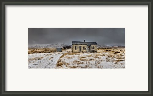 Historic Farm After Snowfall Otago New Framed Print By Colin Monteath