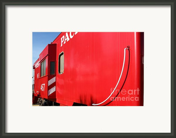 Historic Niles District In California Near Fremont . Western Pacific Caboose Train . 7d10724 Framed Print By Wingsdomain Art And Photography