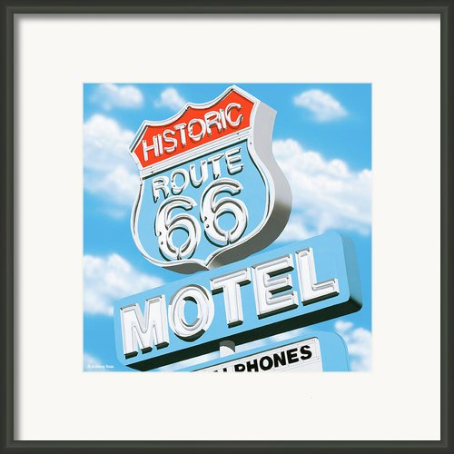 Historic Route 66 Motel Framed Print By Anthony Ross