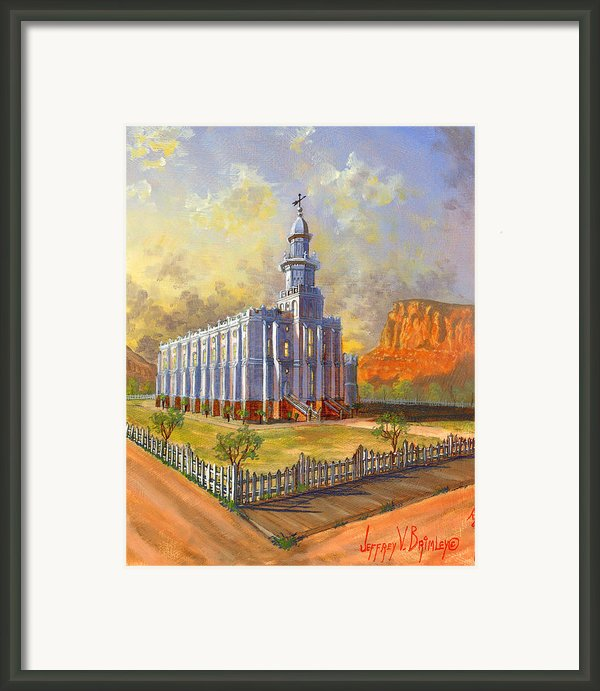Historic St. George Temple Framed Print By Jeff Brimley