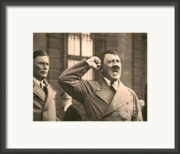 Hitler The Orator Framed Print By Al Bourassa