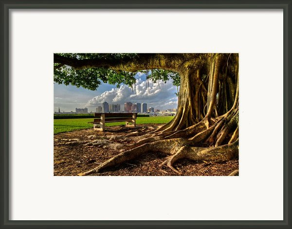 Hobbit Eyeview Framed Print By Debra And Dave Vanderlaan