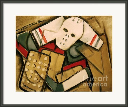 Hockey Goalie Framed Print By Tommervik