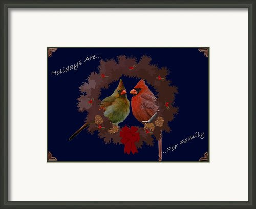 Holidays Are For Family Framed Print By Digiart Diaries By Vicky Browning
