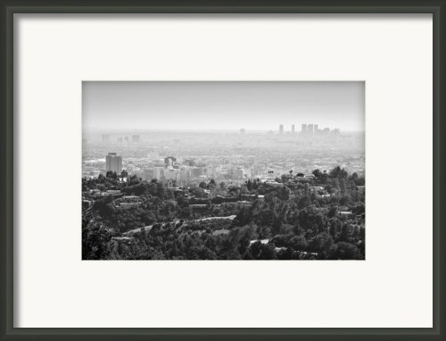 Hollywood From Above Framed Print By Ricky Barnard